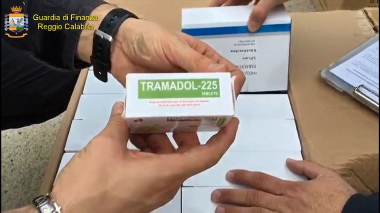 Police seized 24 million tablets of Thamodol