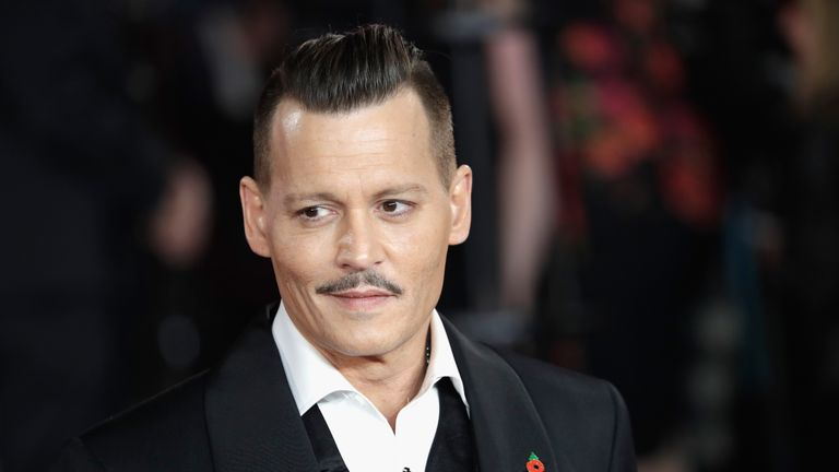 Johnny Depp at the Murder on the Orient Express premiere in London