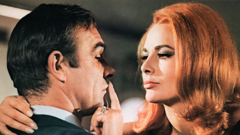 Karin Dor and Sean Connery in You Only Live Twice. 1967