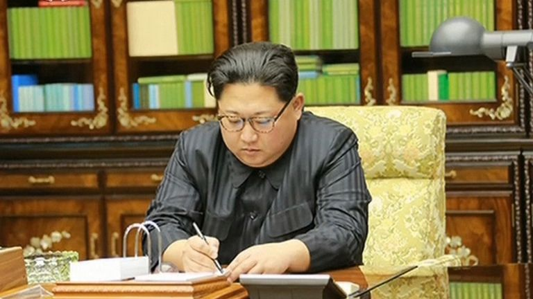 Kim Jong Un seen personally authorising North Korea's latest missile test