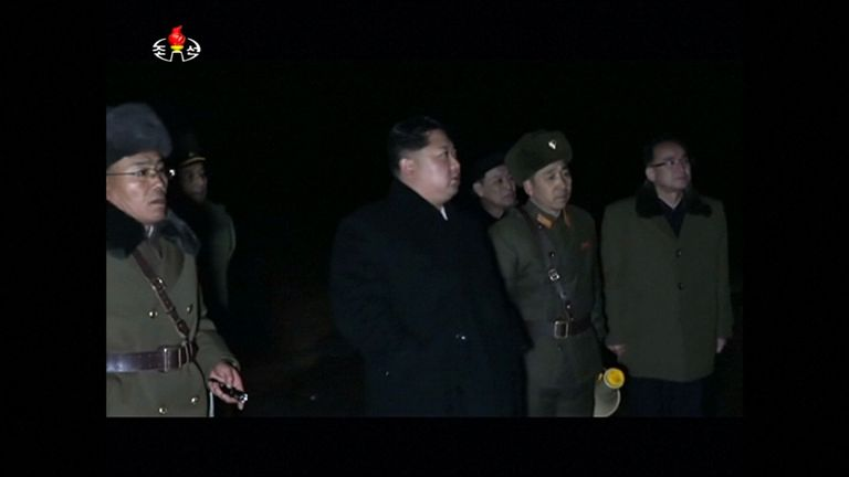 Kim Jong Un watches North Korea's latest missile launch