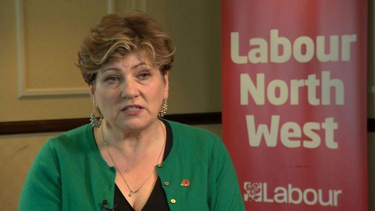 Labour shadow Foreign Secretary Emily Thornberry.
