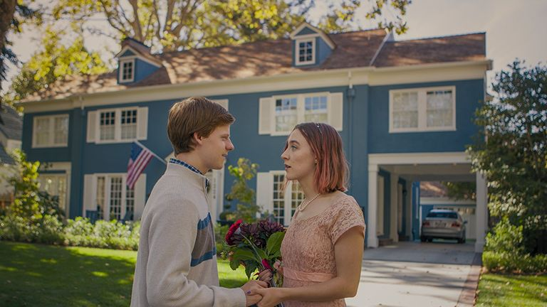 Saoirse Ronan plays a high-school senior in California struggling to grow up