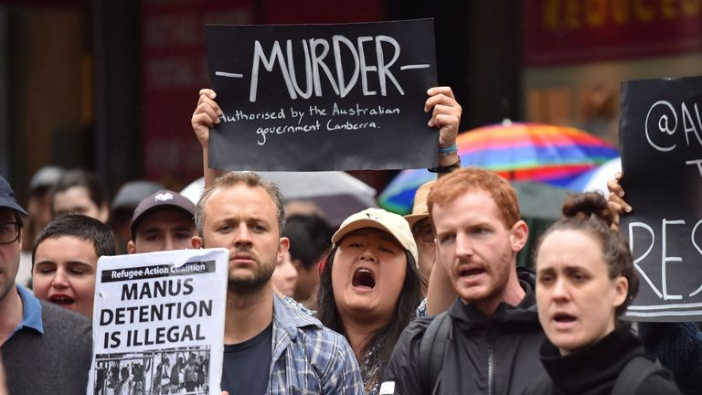Protests over the treatment of the refugees have taken place across Australia