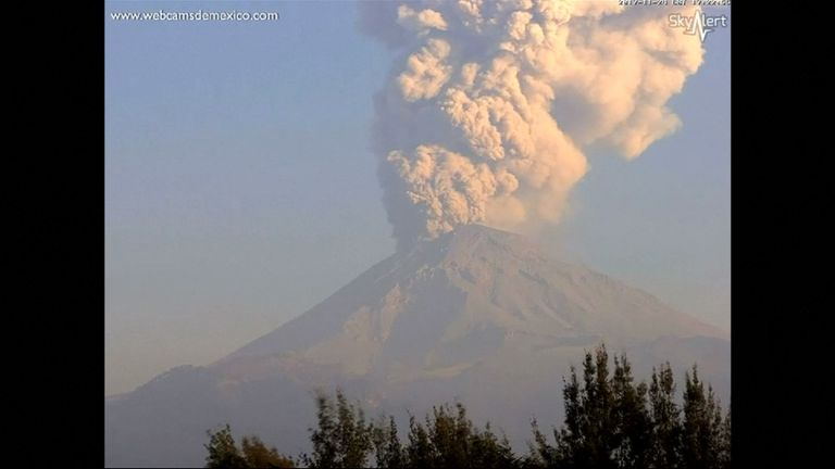 Mexico's Popocateptl volcano, also known as Popo, had three explosive eruptions