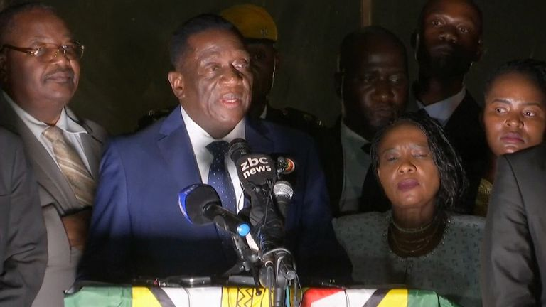 Former vice president Emmerson Mnangagwa