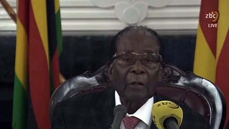 Mugabe did not announce his resignation