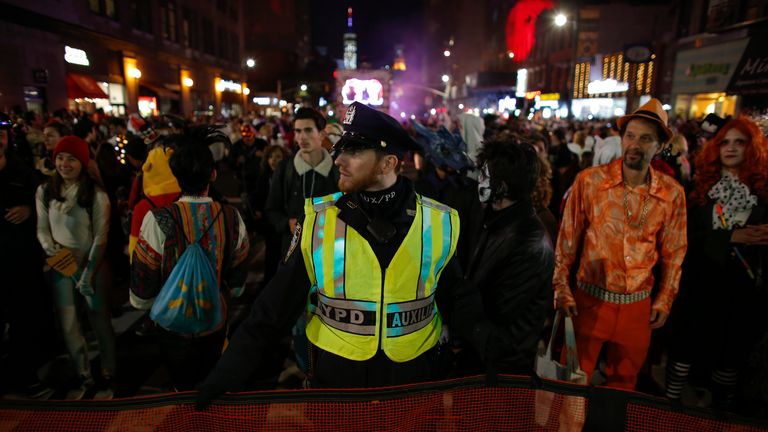 The annual Halloween parade in New York is going ahead despite the attack