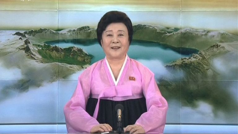 North Korea state TV announces the latest missile test