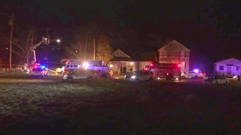 Emergency services at the scene. Pic: WDTN.com