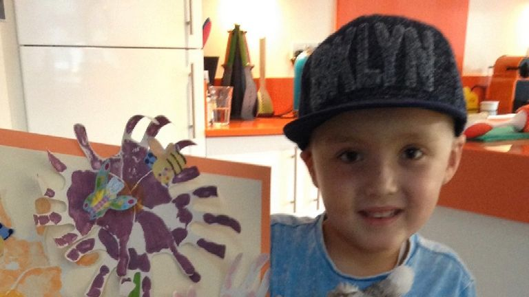 Oscar Howard-Hull, a seven-year-old from Derby, took part in a  study after being diagnosed with leukaemia in 2015.