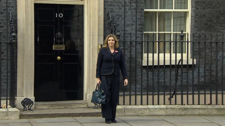 New International Development Secretary Penny Mordaunt leaves Downing Street