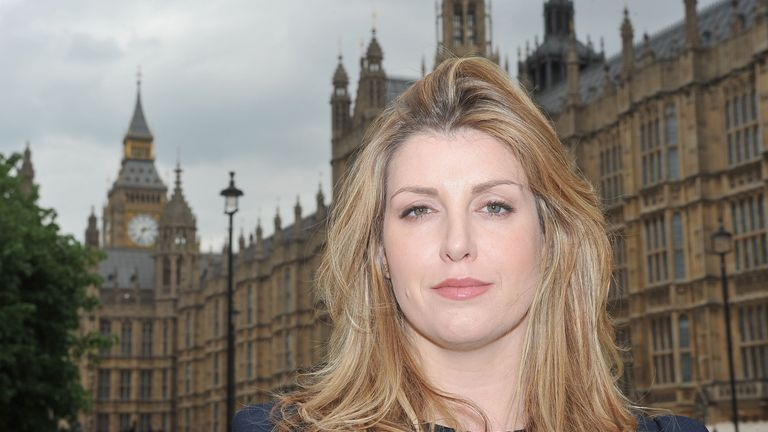 Conservative MP for Portsmouth North, Penny Mordaunt outside the Houses of Parliament in central London in 2010