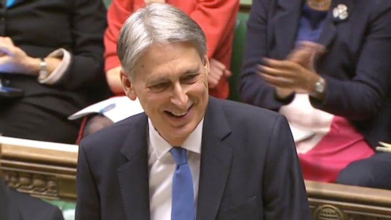 Philip Hammond delivers his budget speech