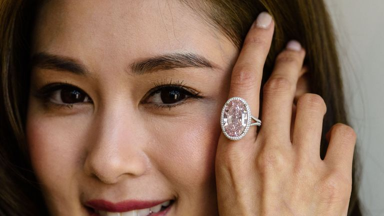 The Pink Promise went under the hammer in Hong Kong