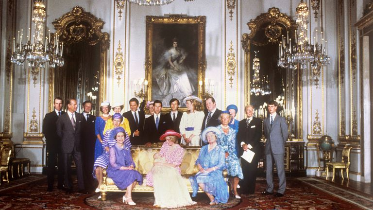 August 1982: Prince William was christened at Buckingham Palace