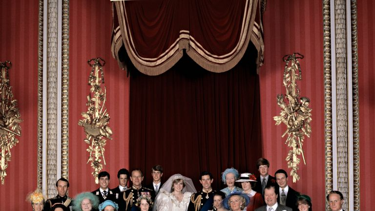 July 1981: The Royal family celebrated the marriage of Diana and Prince Charles, the Queen's eldest child