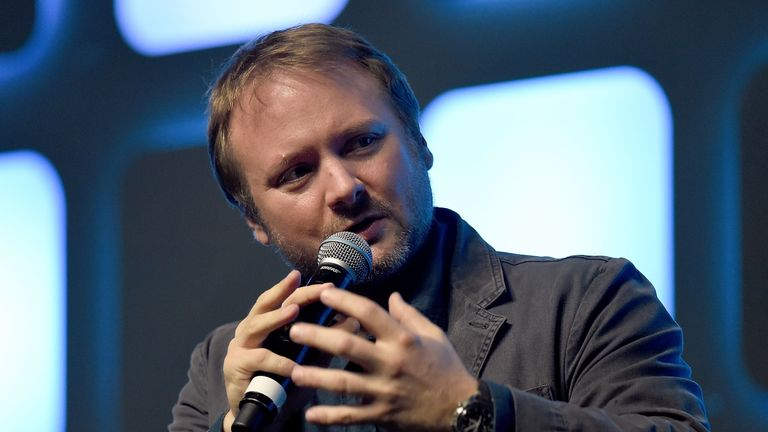 LONDON, ENGLAND - JULY 17: Rian Johnson, director of Star Wars Episode VIII, on stage during Future Directors Panel at the Star Wars Celebration 2016 at ExCel on July 17, 2016 in London, England. (Photo by Ben A. Pruchnie/Getty Images for Walt Disney Studios)