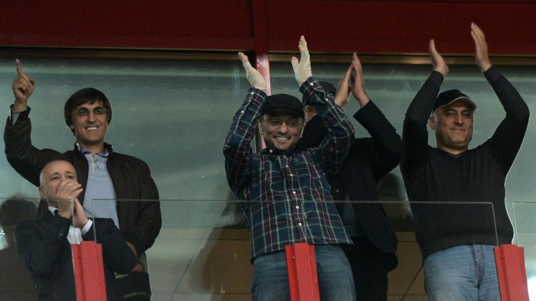 Kerimov watching his former football club play in 2012