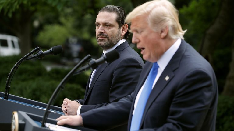 Saad Hariri visited Washington in July