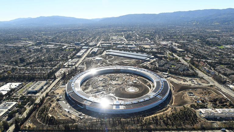 Apple is building a second campus in Cupertino, California, which Bill Gates' Belmont city is set to rival