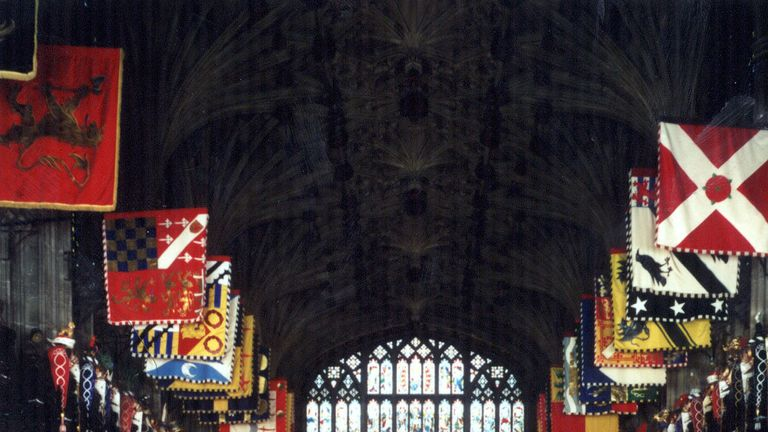 The interior of St George's Chapel, Windsor Castle