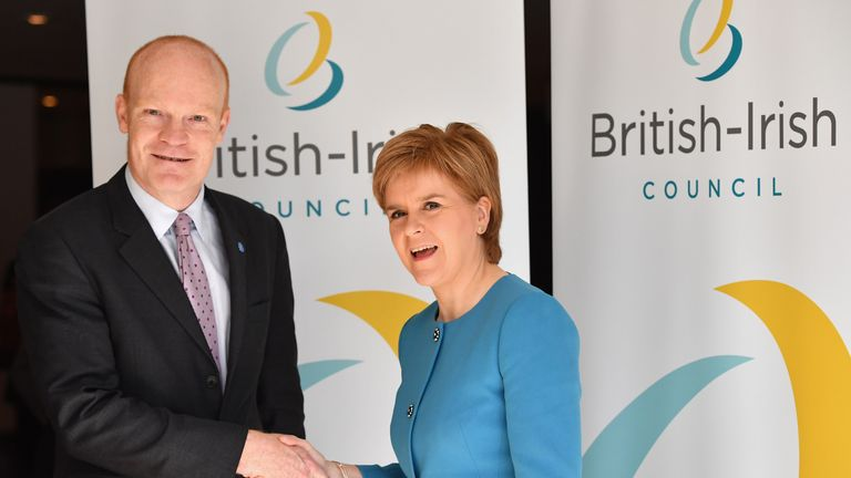 Mr St Pier pictured with First Minister Nicola Sturgeon
