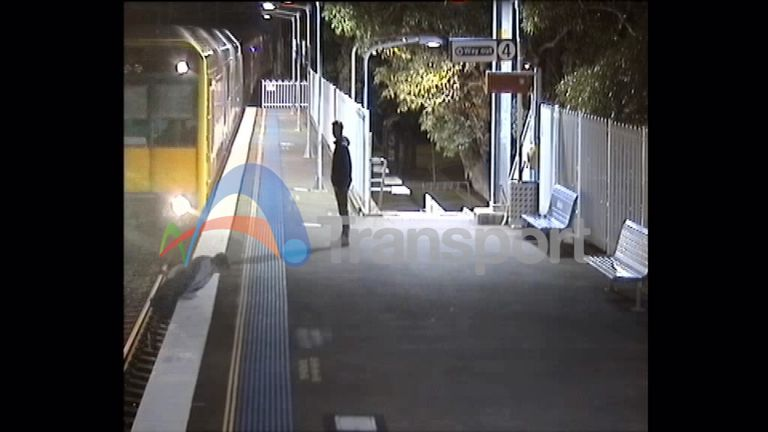 The pedestrian who crossed the tracks near Sydney has been described as 'mindless'