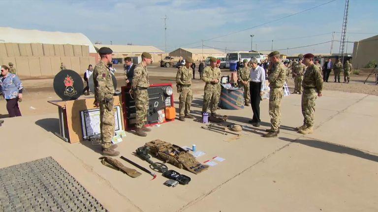 Theresa May visits British troops in Iraq
