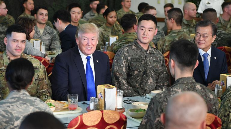 Troops were among those informed about the US stock market
