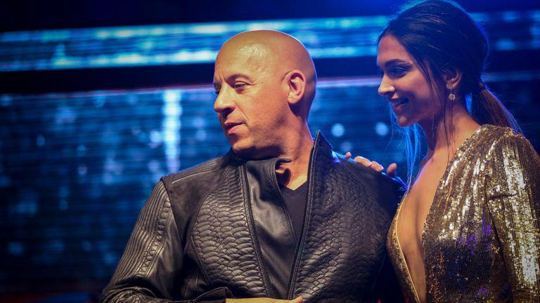 Deepika Padukone with xXx co-star Vin Diesel