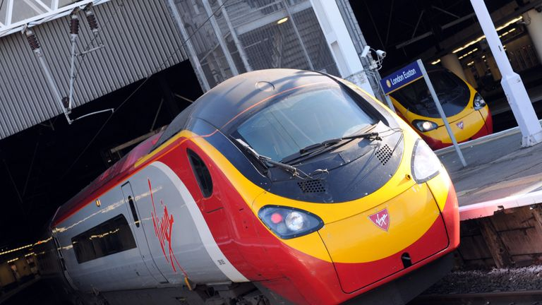 Pendolino Virgin train