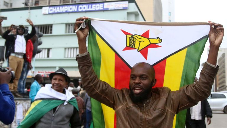 Protesters are calling for Zimbabwean President Robert Mugabe to step down