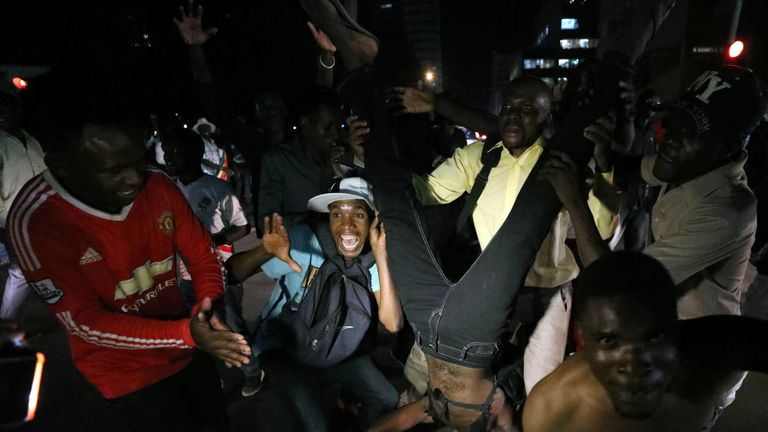 The end of Mugabe's reign sparked parties in the streets