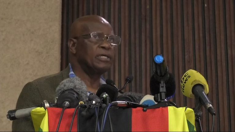 Minister for Cyber Security Patrick Chinamasa said Robert Mugabe has until noon Monday to step down