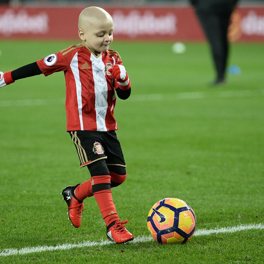 Bradley Lowery scoring goal of the month in December 2016.