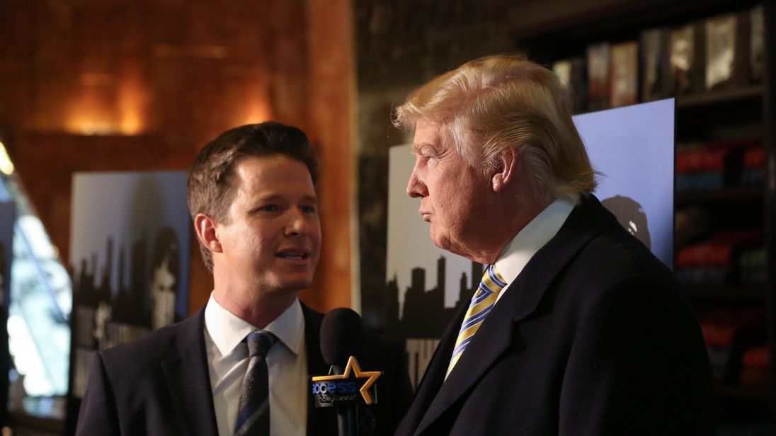 Billy Bush interviews Donald Trump for Access Hollywood in 2015
