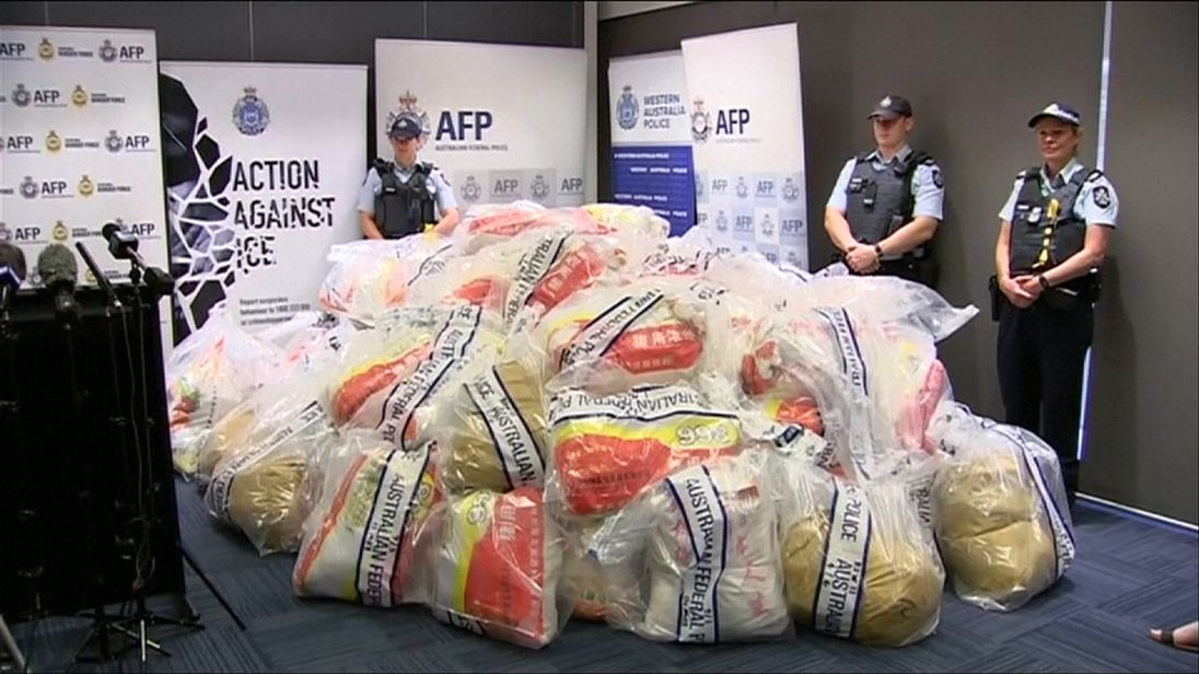 The haul has an estimated value of one billion Australian dollars