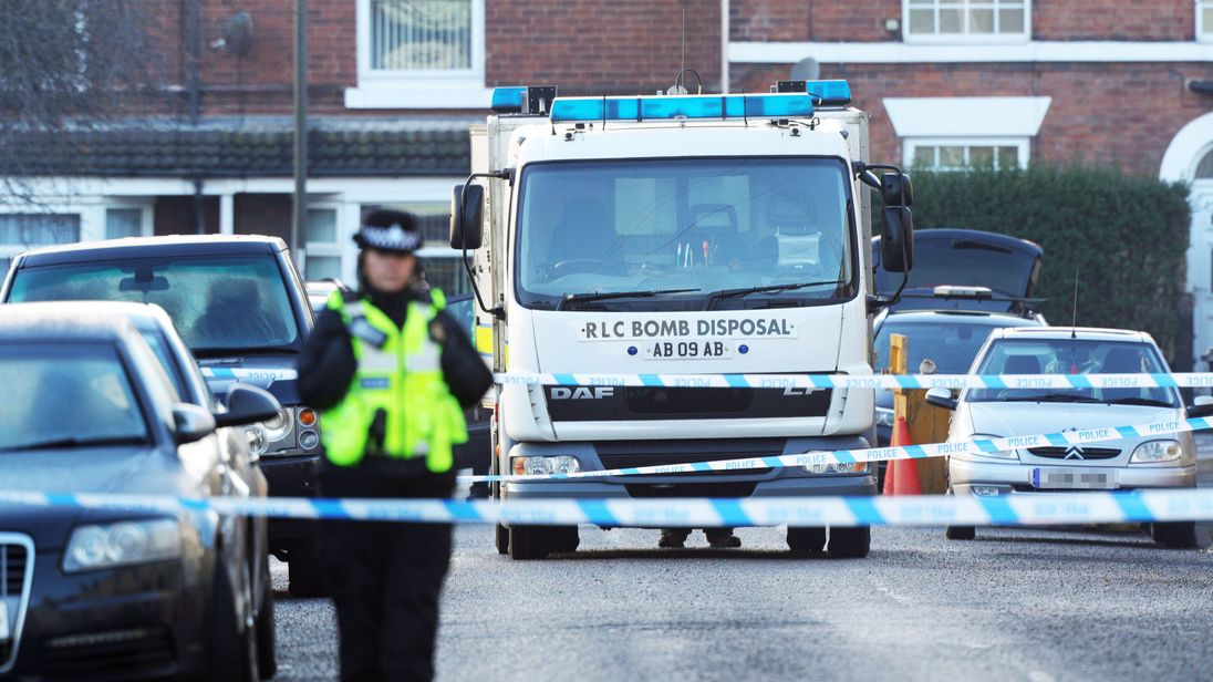 Controlled explosion in Chesterfield after Christmas 'terror plot' raids