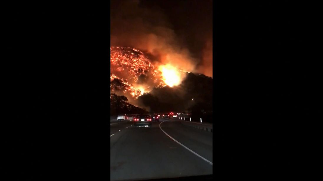The wildfires are now threatening Los Angeles