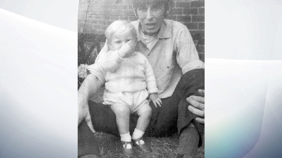 Undated handout photo issued by Cleveland Police of David Dearlove with Paul Booth, weeks before the child died