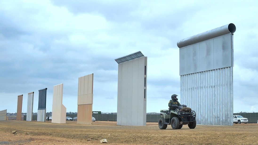 Donald Trump Tests Eight 30ft High Walls For Border With