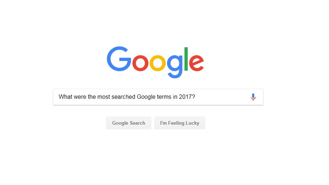 google s most searched terms of 2017 revealed