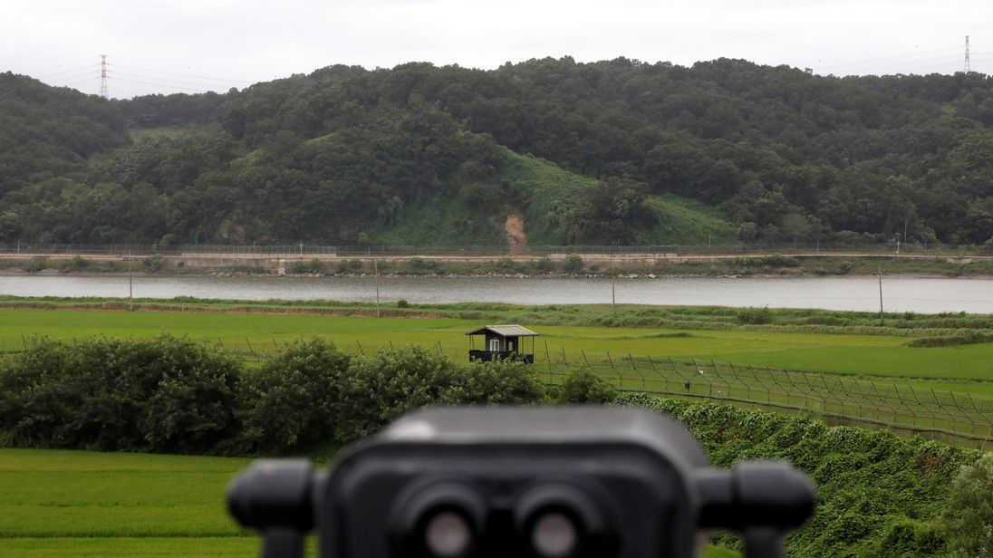 A guard post near the demilitarised zone between North and South Korea. File pic