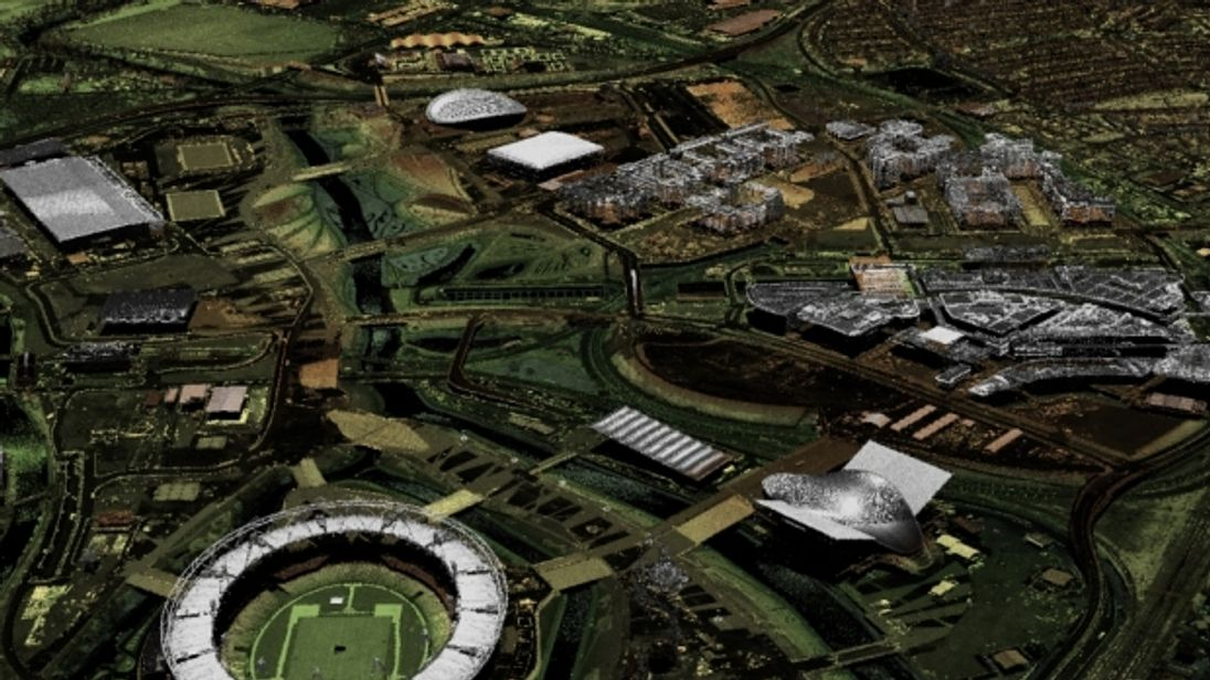 London's Olympic Park has already been mapped using the hi-tech scanners. Pic: Environment Agency