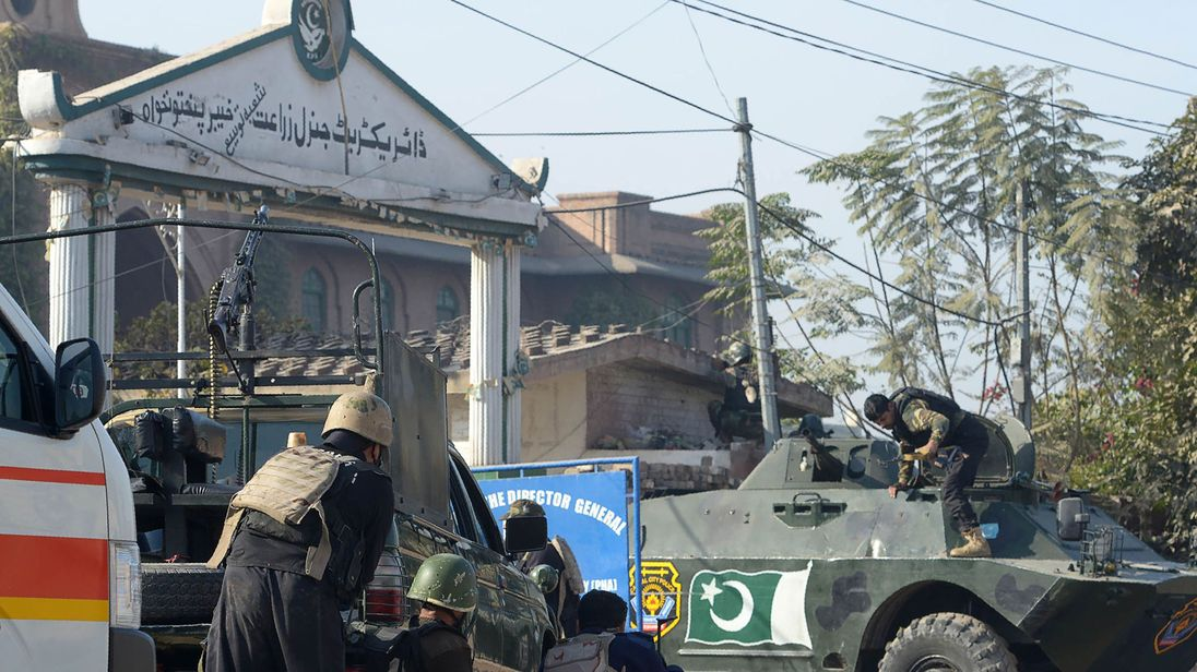 Deaths reported in Taliban attack on college in Pakistan