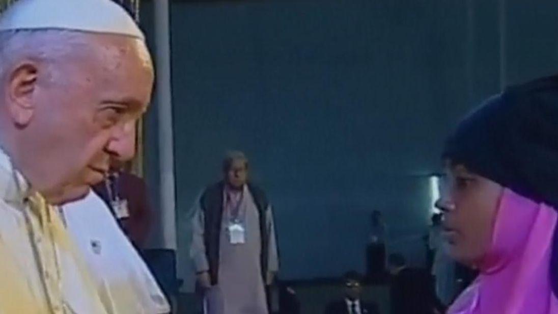 The Pope met Rohingya refugees in Bangladesh