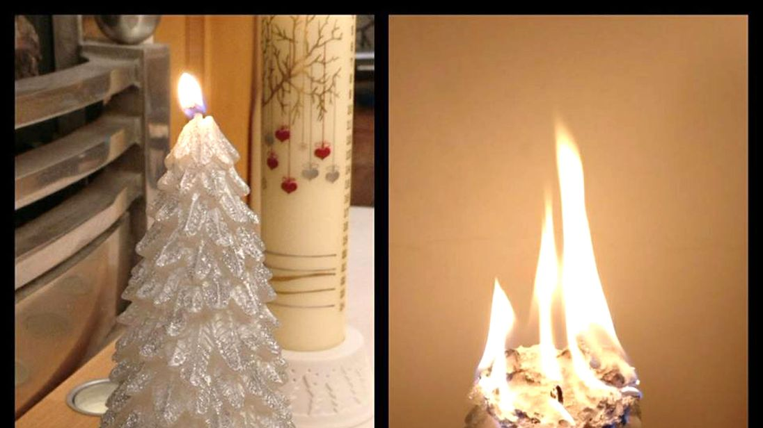 Jenny Ferneyhough bought the Christmas candle at a Primark in Manchester. Pic. Facebook