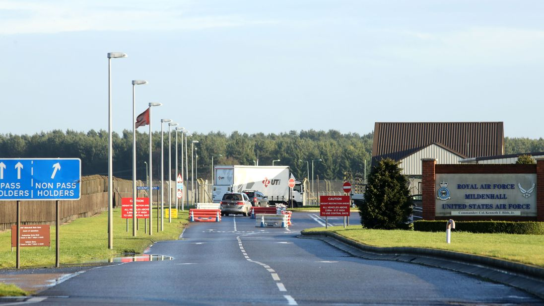 RAF Mildenhall in Suffolk