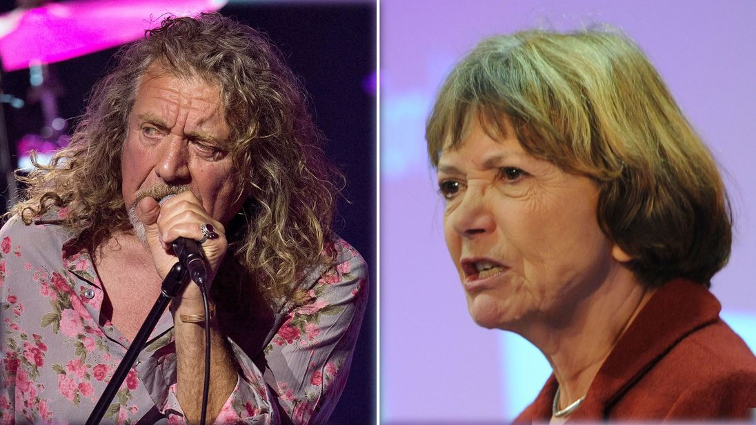 Led Zeppelin's Robert Plant and Labour peer Baroness Bakewell